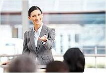 Women presenters can be more confident speakers by using effective gestures.