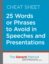words to avoid in presentations