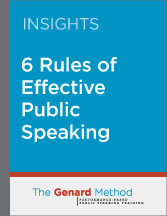 six rules for effective public speaking