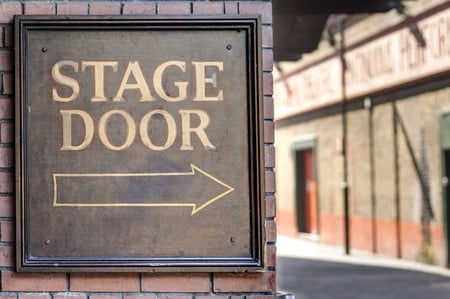Stage door image.