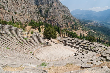 Photo of ancient Greek theater, the sanctuary of Apollo.