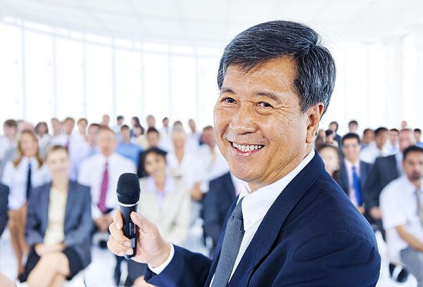 Photo of Asian business man to illustrate the six rules of effective public speaking.