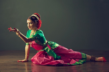 Stock photo of Indian classical dance shows how to use and read body language.