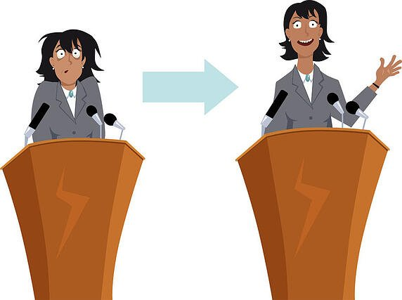 How to overcome stage fright and eliminate fear of public speaking.