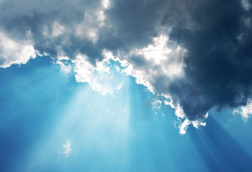 A shaft of sunlight through clouds is similar to knowing how to be an effective speaker.