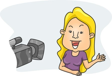 Group training often includes videotaped practice for effective presentations.