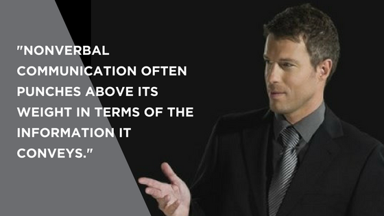 Nonverbal communication is an essential element of body language for public speaking.