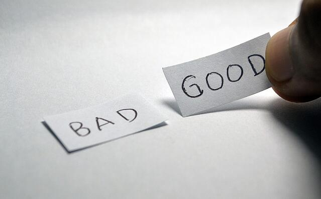 Stock photo of words on a white background.