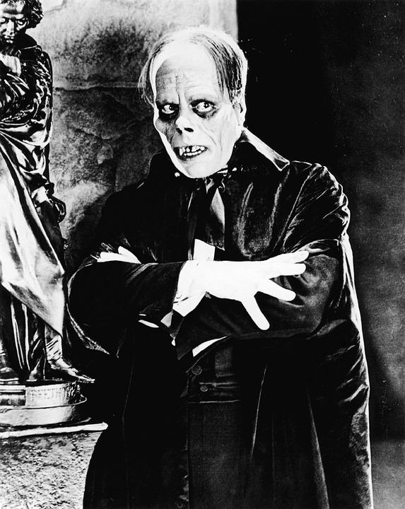 Lon Chaney as The Phantom of the Opera.
