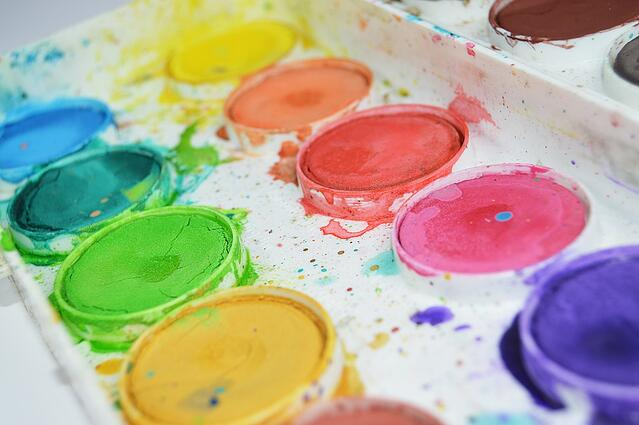 Painter's palette illustrating variety is the spice of life.