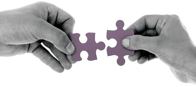 Stock photo of puzzle pieces.