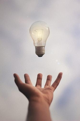 Stock photo of light bulb image as an idea.