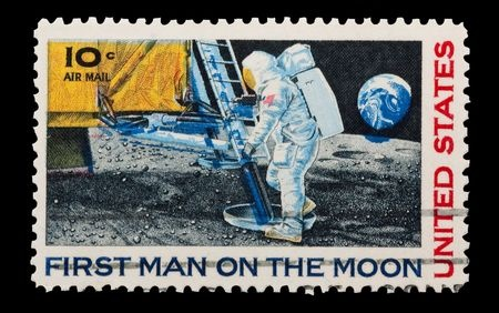Image of Neil Armstrong, the first man on the moon.