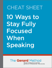 10 ways to stay focused when speaking