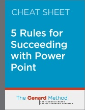 5 rules for succeeding with PowerPoint