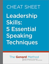 Speaking techniques for leaders