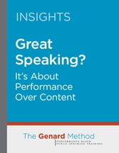 Great Speaking - Performance over Content
