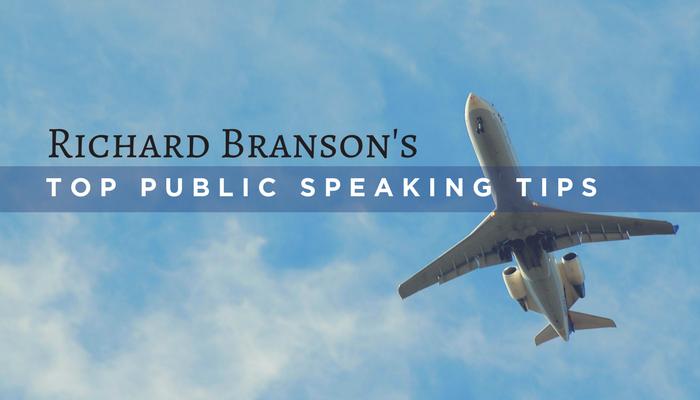Richard Branson's Top Public Speaking Tips.
