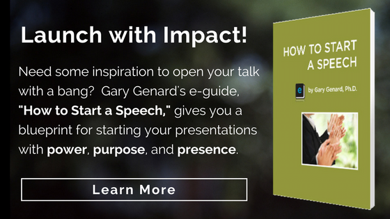 Gary Genard's e-guide on how to start a speech